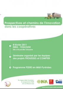 """Affiche Séminaire  """"Prospectives et chemins de l'innovation dans les coopératives"""" (8 février 2011)"""