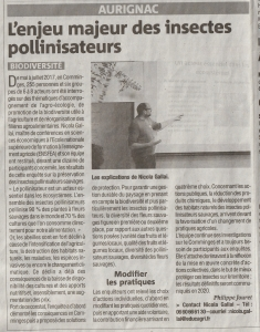 Article SEBIOREF La Gazette du Comminges