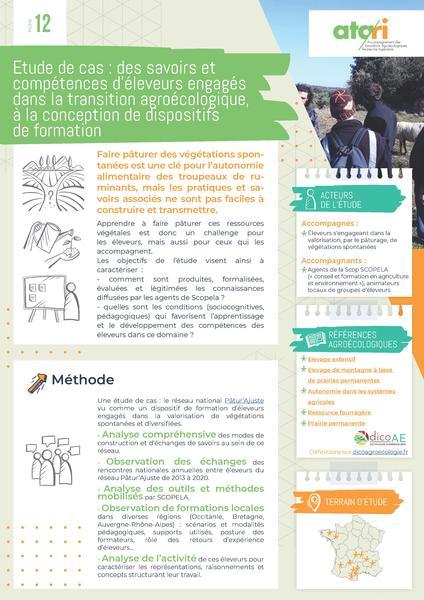 Fiche-ATA-RI-12 Étude de cas : des savoirs et compétences d'éleveurs engagés dans la TAE, à la conception de dispositifs de formation