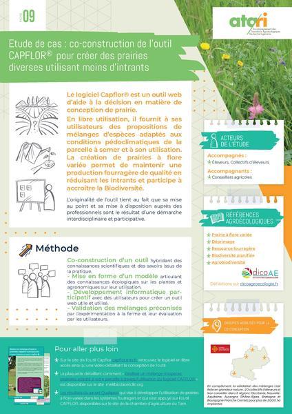 Fiche-ATA-RI-9-Étude de cas sur la création de prairies diverses utilisant moins d'intrants via la création d'un outil : CAPFLOR®