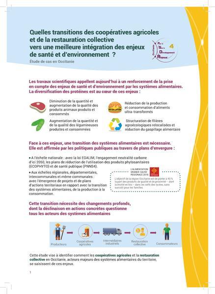 Focus Intégration des enjeux de santé et d'environnement