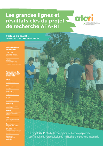 Pochette finale du projet ATA-RI 2021