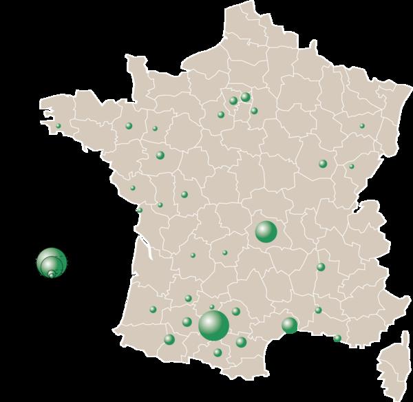 carte origine des participants
