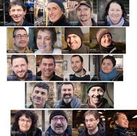 Portraits des éléveurs ayant participé aux témoignages vidéos