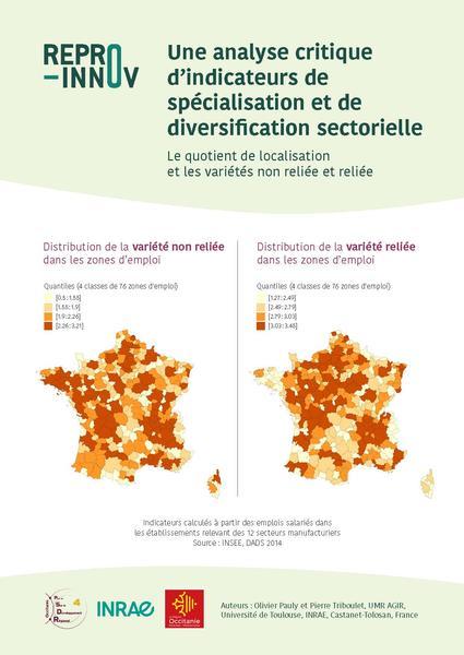 analyse critique d'indicateurs de spécialisation et de diversification sectorielle - page1