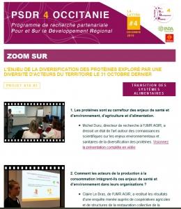 Extrait de la lettre d'information PSDR4 Occitanie N°3